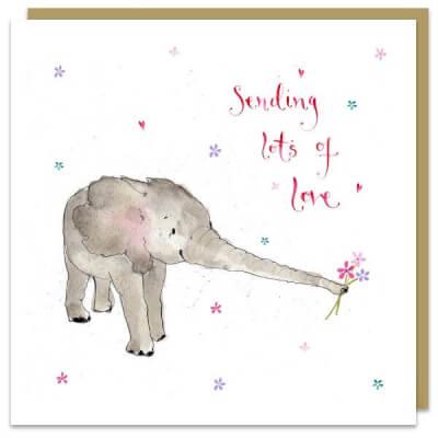 Louise Mulgrew Greeting Card - Sending Lots Of Love