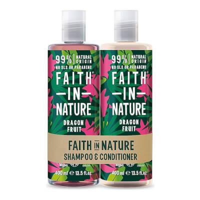 Faith In Nature -  Duel Pack - Shampoo & Conditioner - Dragon Fruit