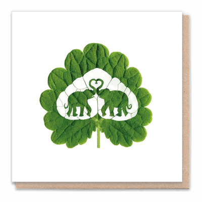 "Tree Card  "" Elephant Love"" Card Contains Flower Seed Token"