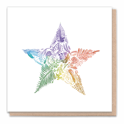 "Tree Card ""Star"" Card Contains Flower Seed Token"