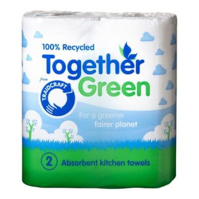 Together Green Recycled Kitchen Towels (2 Pack)