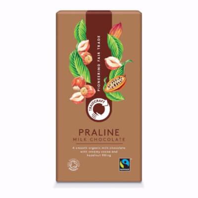 Traidcraft Organic Milk Chocolate With Praline