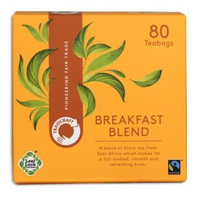 Traidcraft Breakfast Blend Tea Bags (80 Bags)