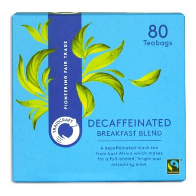 Traidcraft Breakfast Blend Decaff Tea Bags (80 Bags)