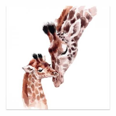 Watercolour Greeting Card - Giraffe