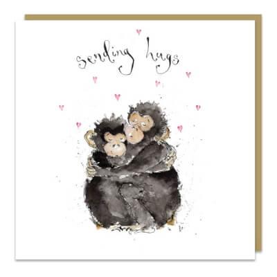 Louise Mulgrew Greeting Card - Sending Hugs