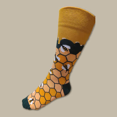 Leahy Beekeeping Socks (Green) Uk Size 3-7