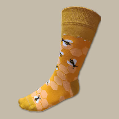Leahy Beekeeping Socks (Orange) Uk Size 3-7