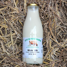 Organic Whole Milk In Returnable Glass Bottles 1 7 5 C L