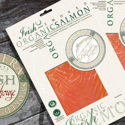Smoked Irish Organic  Salmon
