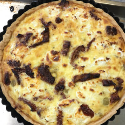Vegetarian Quiche With Goats Cheese