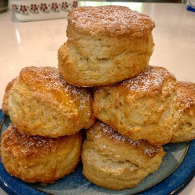 6 Freshly Baked Homemade Scones