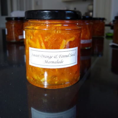 Orange And Fennel Seed Marmalade