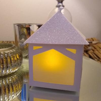 Tea Light Lantern Pergola Snow Sparkle