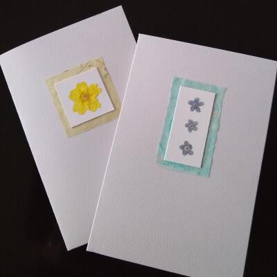 Greetings Card (Pressed Flower)