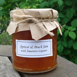 Apricot Peach Jam With Amaretto