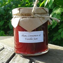 Plum Cinnamon And Vanilla Jam