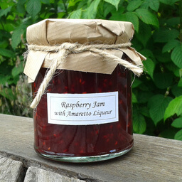 Raspberry Jam With Amaretto Liqueur