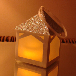 Tea Light Lantern Pergola Silver