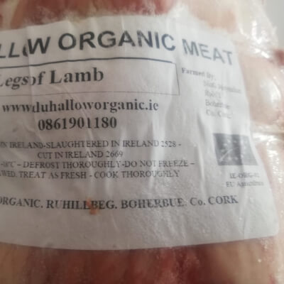 Organic Shoulder Of Lamb Large (Boned And Rolled)