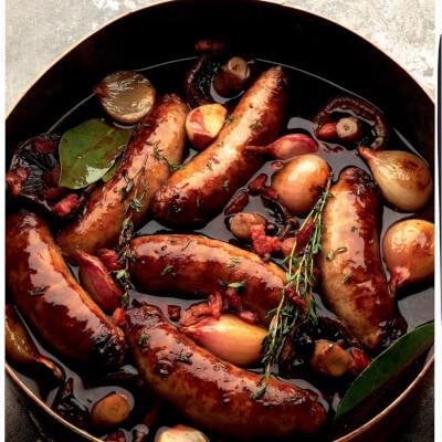 Cracked Black Pepper Old Spot Sausages