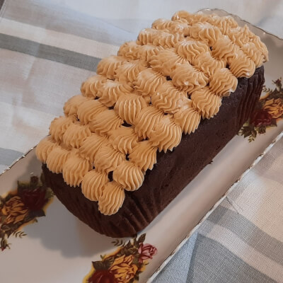 Chocolate Loaf Cake With Salted Carmel Buttercream
