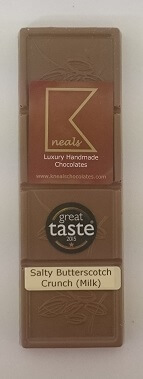 Great Taste 2015 Winning Milk Salty Butterscotch Crunch Bar 100 G
