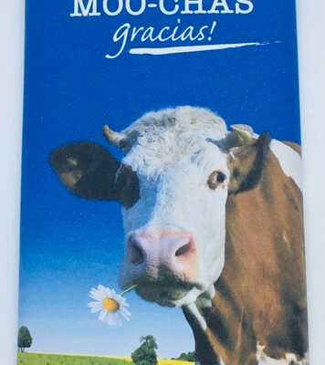 Thank You Luxury Irish Made Milk Chocolate (Moo-Chas Gracias!)