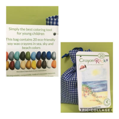Crayon Rocks Bag Of 20 Seaside Colors