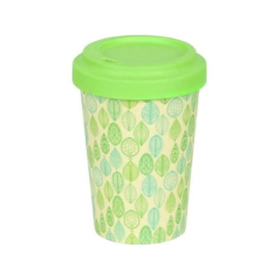 Eco Friendly Bamboo Coffee Cup Leaves