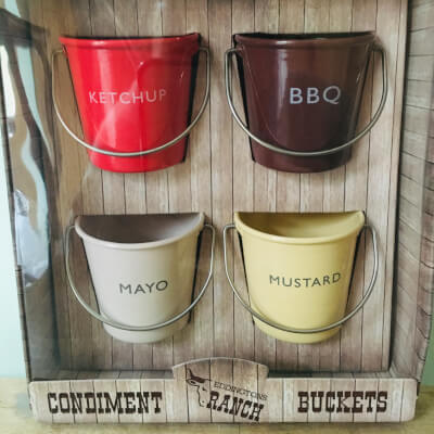 Fun Condiment Tin Buckets