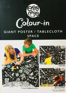 Large Color Me In Space Tablecloth/Poster
