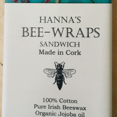 Hannah'S Beeswax Sandwich Wraps (Turquoise Bird Print)