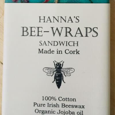 Hannah'S Beeswax Sandwich Wraps (Turquoise Bird Print)