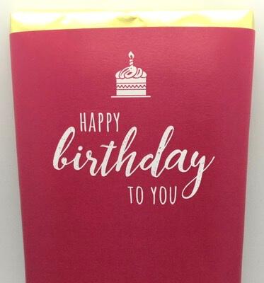 Happy Birthday Luxury Irish Made Chocolate (Happy Birthday To You (Pink) )
