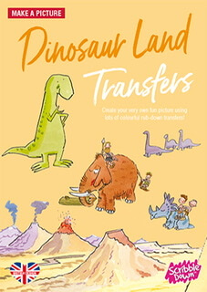 Sribble Down Transfer Dinosaur Book
