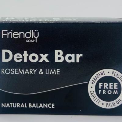 Friendly Soap Detox Bar Rosemary & Lime