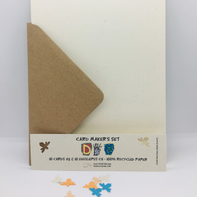 Diy Ivory  Card And Brown Envelopes A5/C6 Ivory