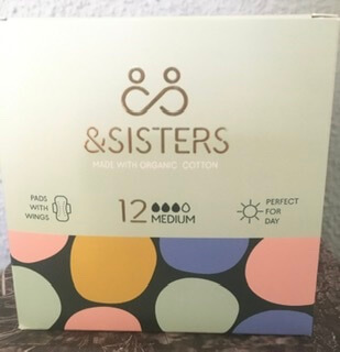 & Sisters Organic Cotton Pads With Wings Medium Flow