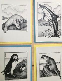 4 Connemara Animal Notelets & Envelopes