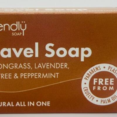 Friendly Travel Soap Lemongrass, Lavender, Tea Tree, & Peppermint