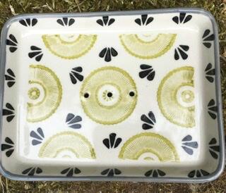 F Handmade Ceramic Soap Dish