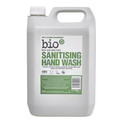 Bio D Sanitizing Hand  Wash Lime And Aloe Vera