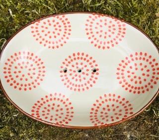 D Handmade Ceramic Soap Dish