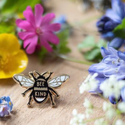 Bee Kind Enamelled Badge