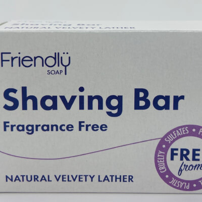 Friendly Soap Shaving Bar Fragrance Free