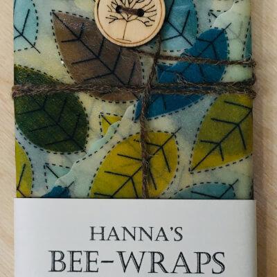 Hannah'S Beeswax Sandwich Wraps (Leaf Print)