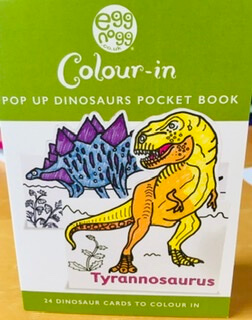 Color In Pop Up Dinosaurs Pocket Book