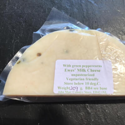 New- Ewes Milk Cheese With Green Peppercorns
