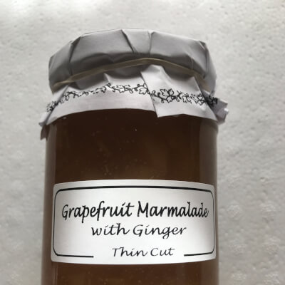 Grapefruit With Ginger Marmalade.